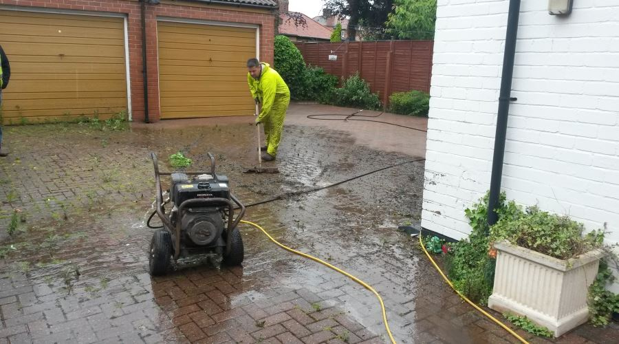 Paving Pressure Washing in Carlisle, Cumbria and the North East